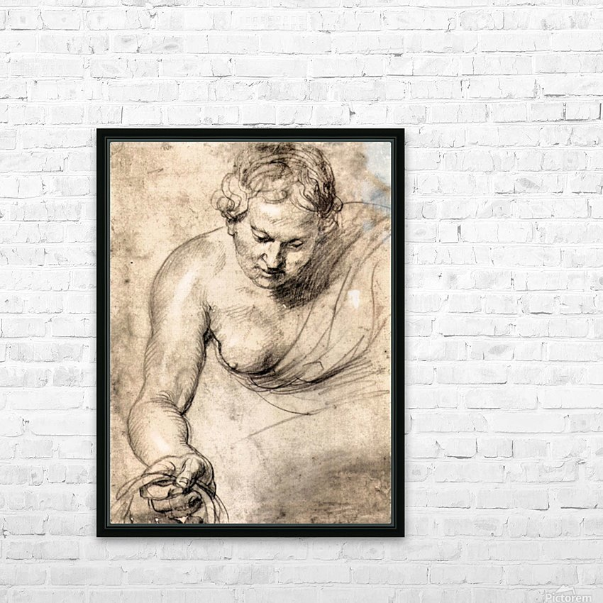 Female figure by Rubens HD Sublimation Metal print with Decorating Float Frame (BOX)