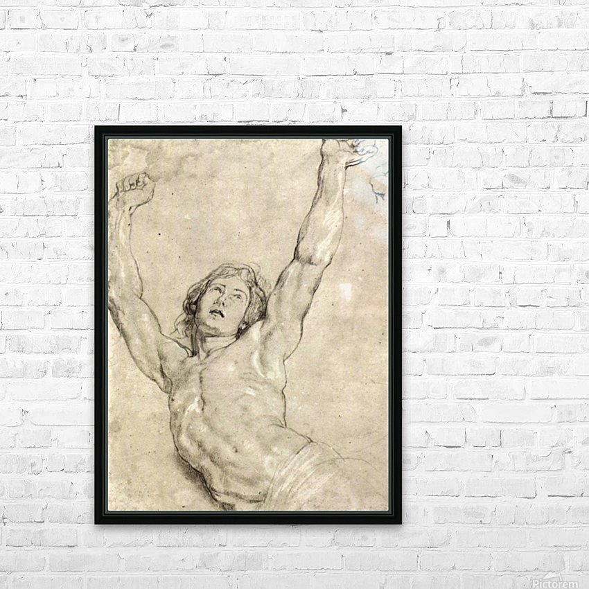 Figure Study of Christ by Rubens HD Sublimation Metal print with Decorating Float Frame (BOX)