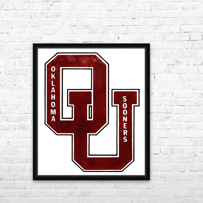 1960 OU Oklahoma Sooners art HD Sublimation Metal print with Decorating Float Frame (BOX)