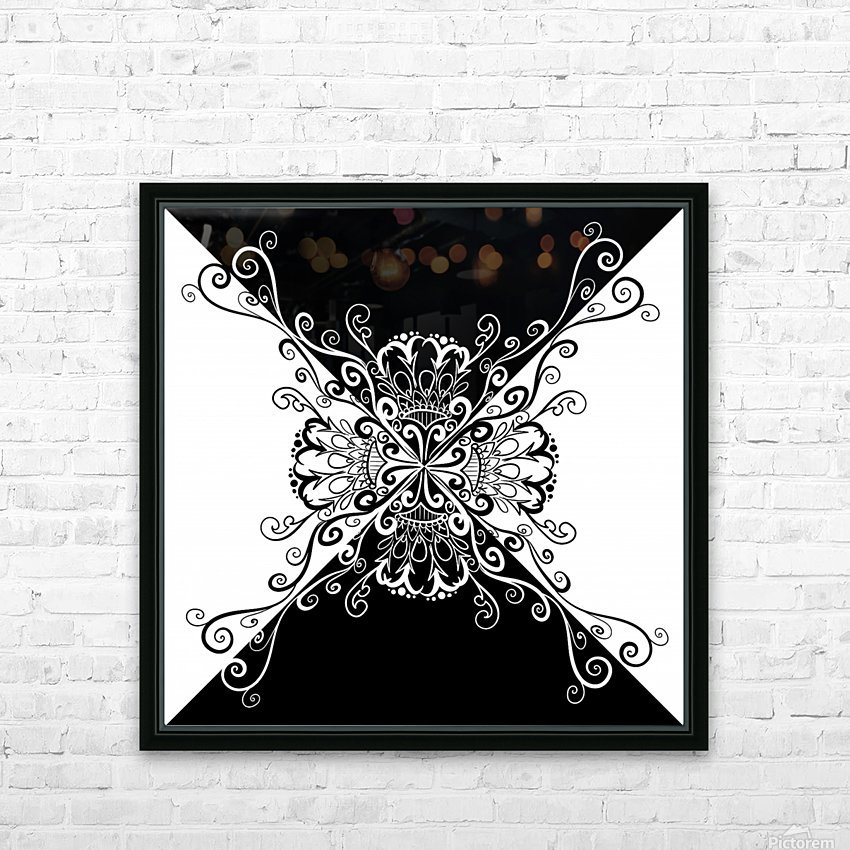 Black & white HD Sublimation Metal print with Decorating Float Frame (BOX)