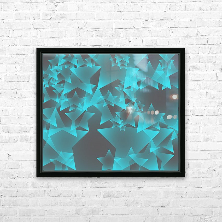 star HD Sublimation Metal print with Decorating Float Frame (BOX)