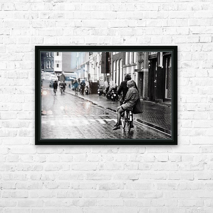 Couple in the rain HD Sublimation Metal print with Decorating Float Frame (BOX)