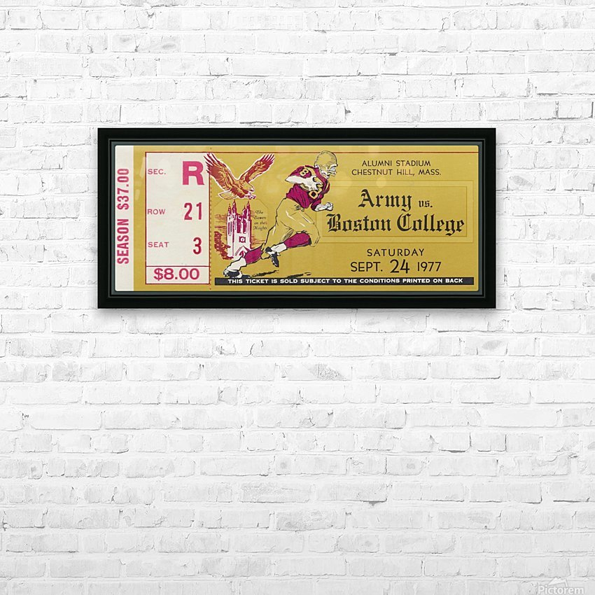1977 Boston College vs. Army HD Sublimation Metal print with Decorating Float Frame (BOX)