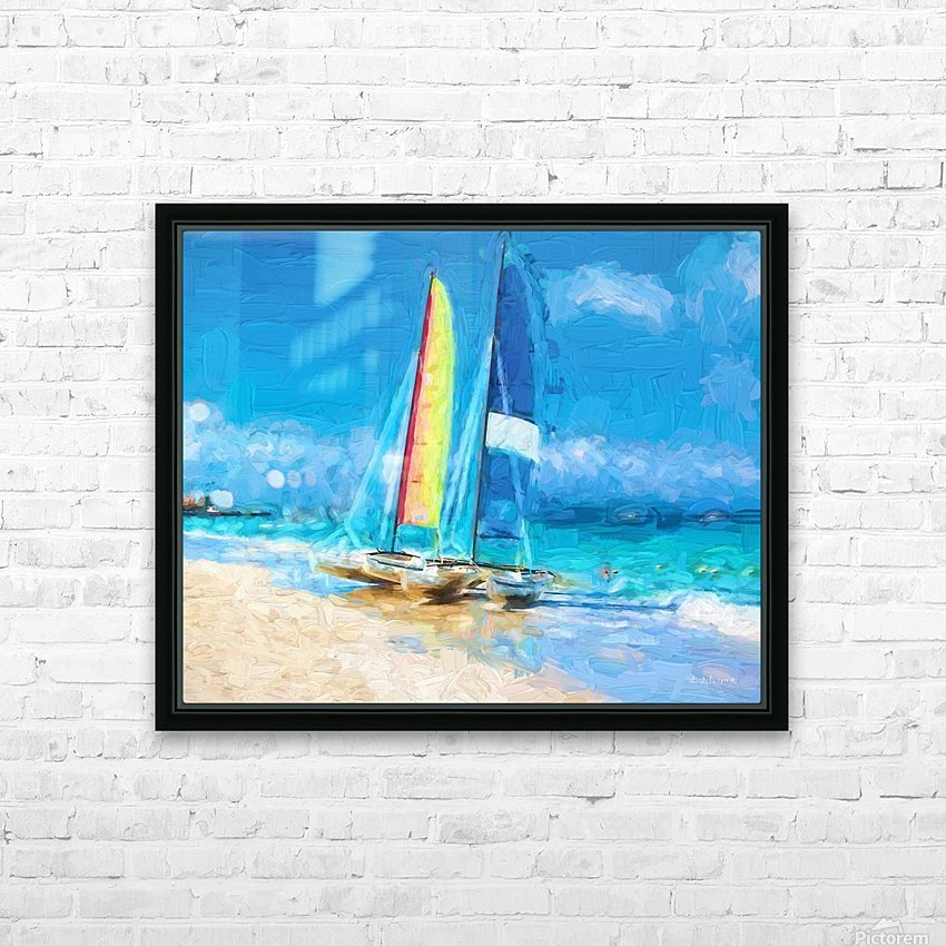 Sailing HD Sublimation Metal print with Decorating Float Frame (BOX)