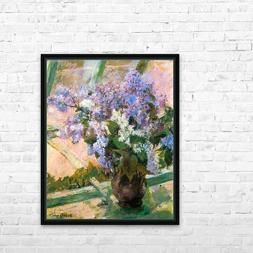 Flowers in the window by Cassatt HD Sublimation Metal print with Decorating Float Frame (BOX)