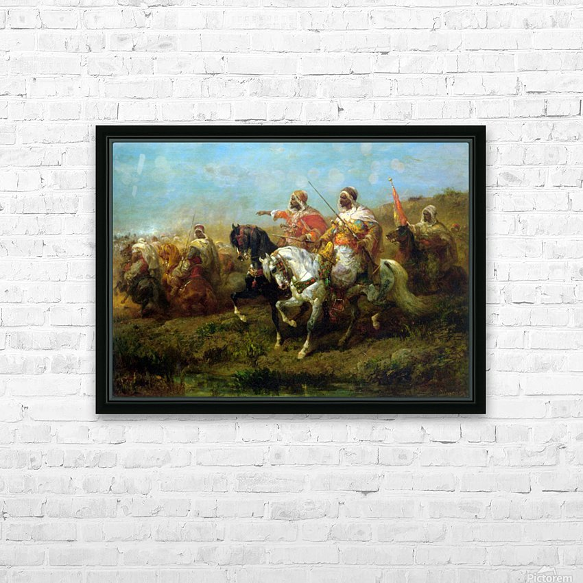 The Skirmish HD Sublimation Metal print with Decorating Float Frame (BOX)