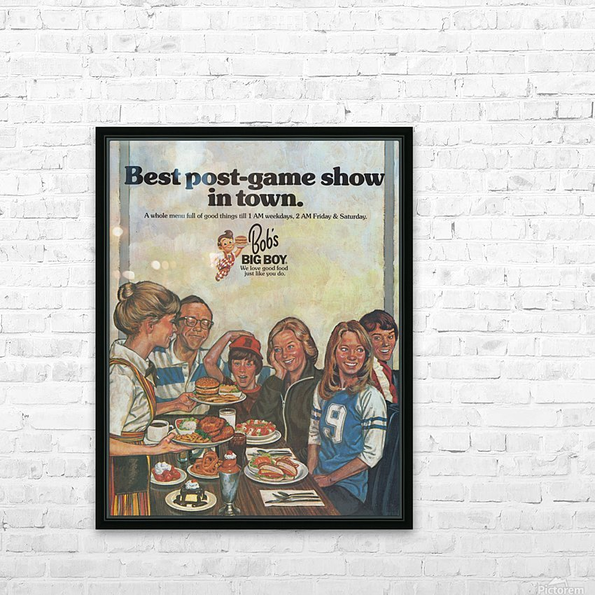 1978 Bobs Big Boy Restaurant Ad_Best Vintage Ads_Retro Advertisement_Post Game Show Ad HD Sublimation Metal print with Decorating Float Frame (BOX)