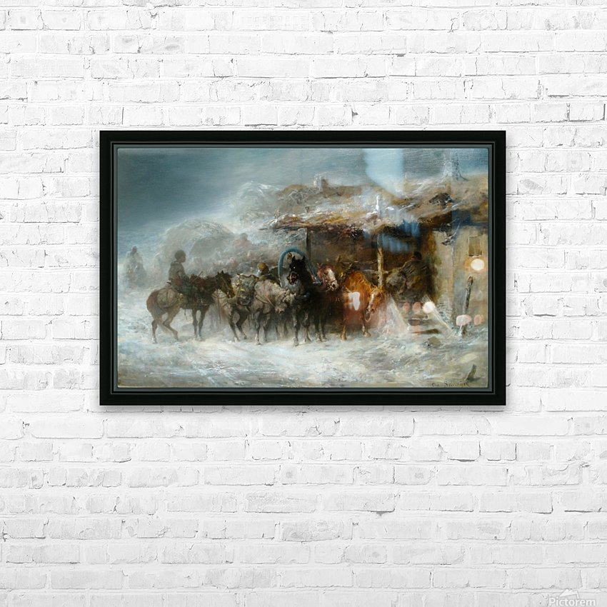Shelter from the Blizzard HD Sublimation Metal print with Decorating Float Frame (BOX)