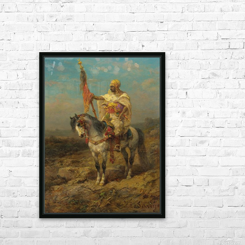 Arab rider HD Sublimation Metal print with Decorating Float Frame (BOX)