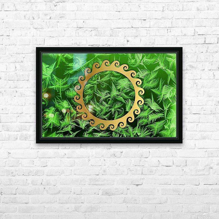 Elegant home decoration room design HD Sublimation Metal print with Decorating Float Frame (BOX)