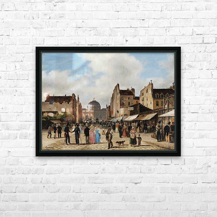Market view HD Sublimation Metal print with Decorating Float Frame (BOX)