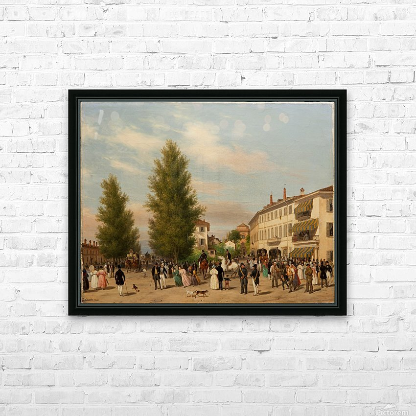 City street scene HD Sublimation Metal print with Decorating Float Frame (BOX)