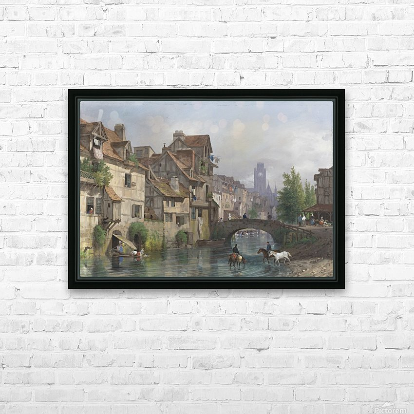 View of Rouen HD Sublimation Metal print with Decorating Float Frame (BOX)