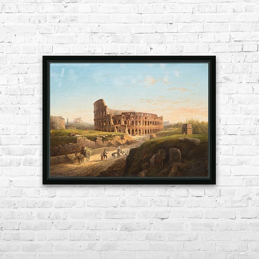 Vista del Coliseo HD Sublimation Metal print with Decorating Float Frame (BOX)