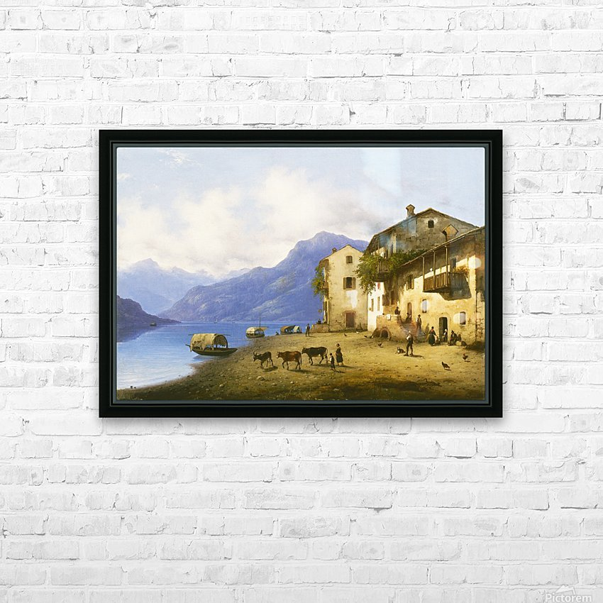 Landscape near Lake Como HD Sublimation Metal print with Decorating Float Frame (BOX)