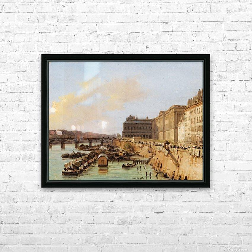 The Pont des Arts, Paris HD Sublimation Metal print with Decorating Float Frame (BOX)