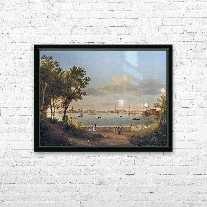 Vue de Venise depuis les Giardini HD Sublimation Metal print with Decorating Float Frame (BOX)