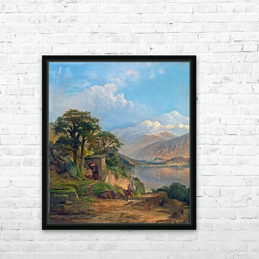 Lake Como HD Sublimation Metal print with Decorating Float Frame (BOX)