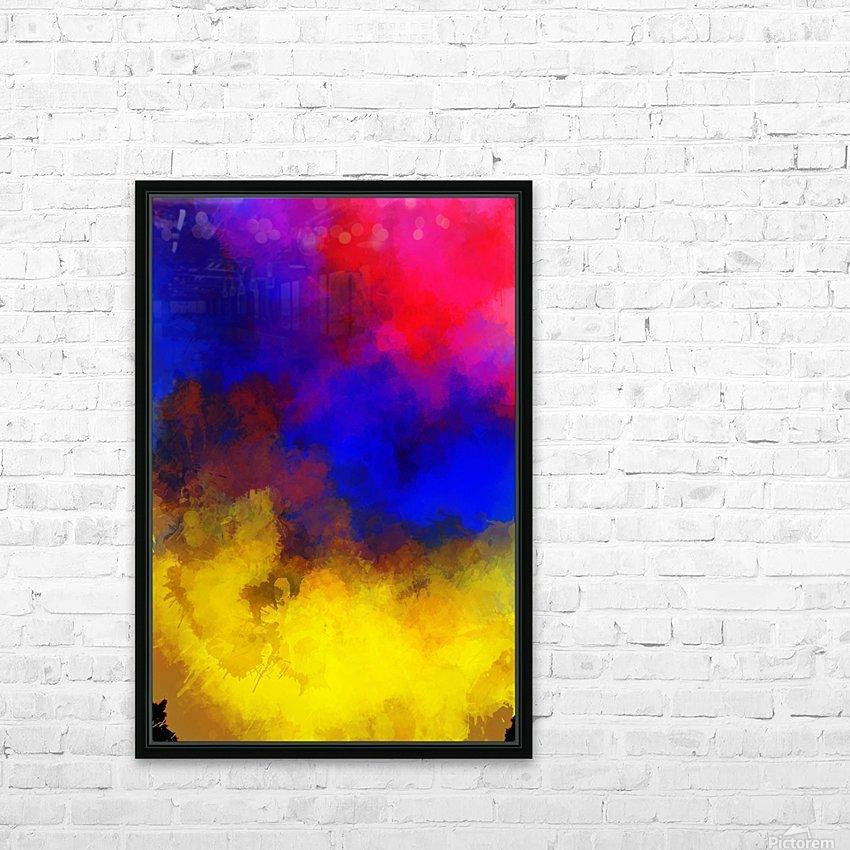Primary Red Yellow Blue HD sublimation métal imprimé avec décoration flotteur cadre (boîte)