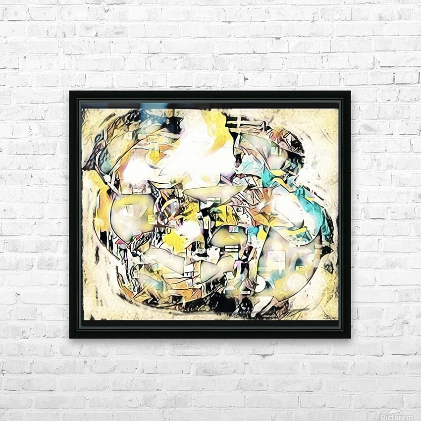 Mosaic Labyrinth HD Sublimation Metal print with Decorating Float Frame (BOX)