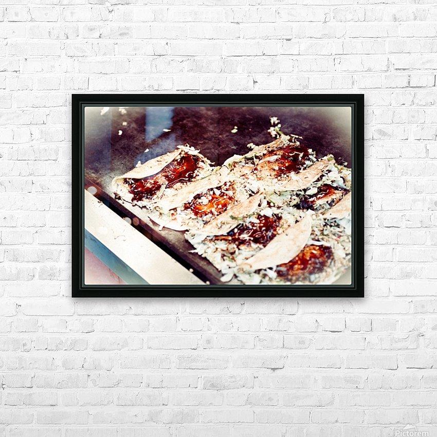 Street Okonomiyaki HD Sublimation Metal print with Decorating Float Frame (BOX)