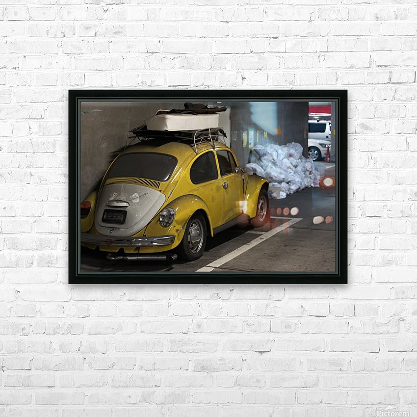 Punch Buggy Yellow No Punchbacks HD Sublimation Metal print with Decorating Float Frame (BOX)