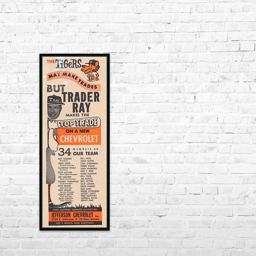 jefferson chevrolet detroit michigan car dealer auto sales ad vintage automobile sales advertising HD Sublimation Metal print with Decorating Float Frame (BOX)