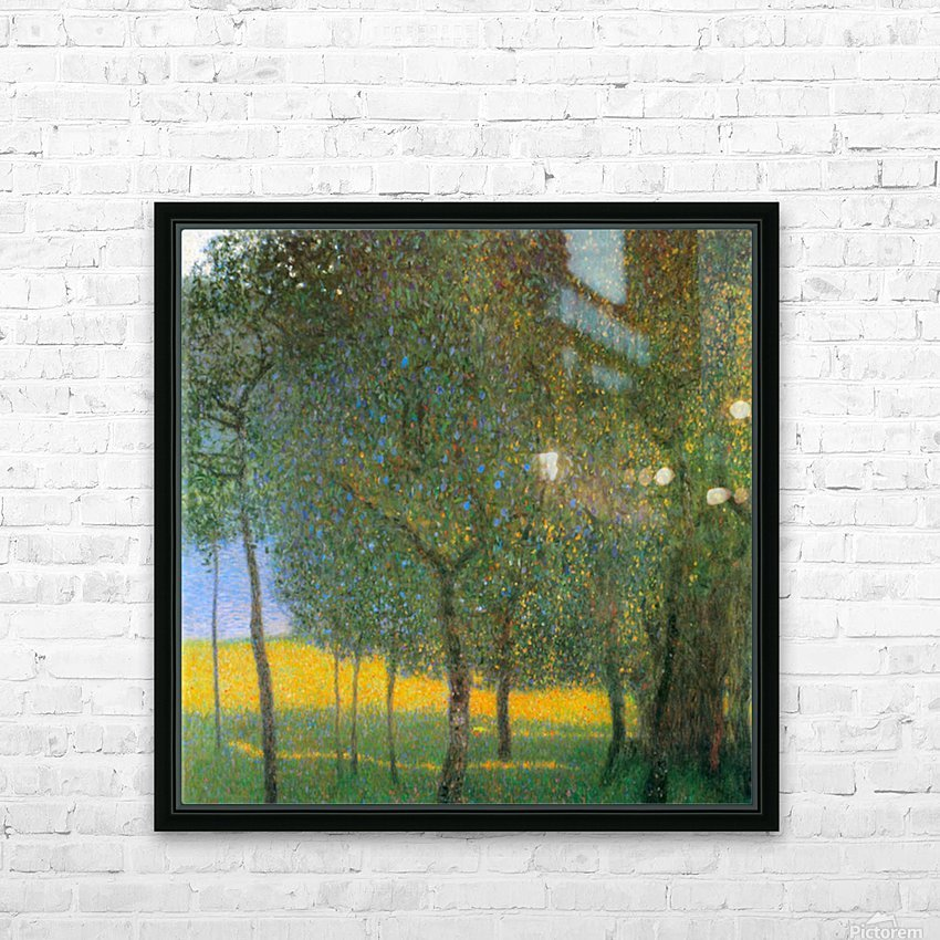 Fruit Trees by Klimt HD Sublimation Metal print with Decorating Float Frame (BOX)