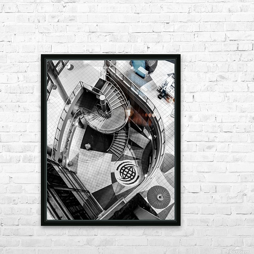 Fibonacci stairs HD Sublimation Metal print with Decorating Float Frame (BOX)