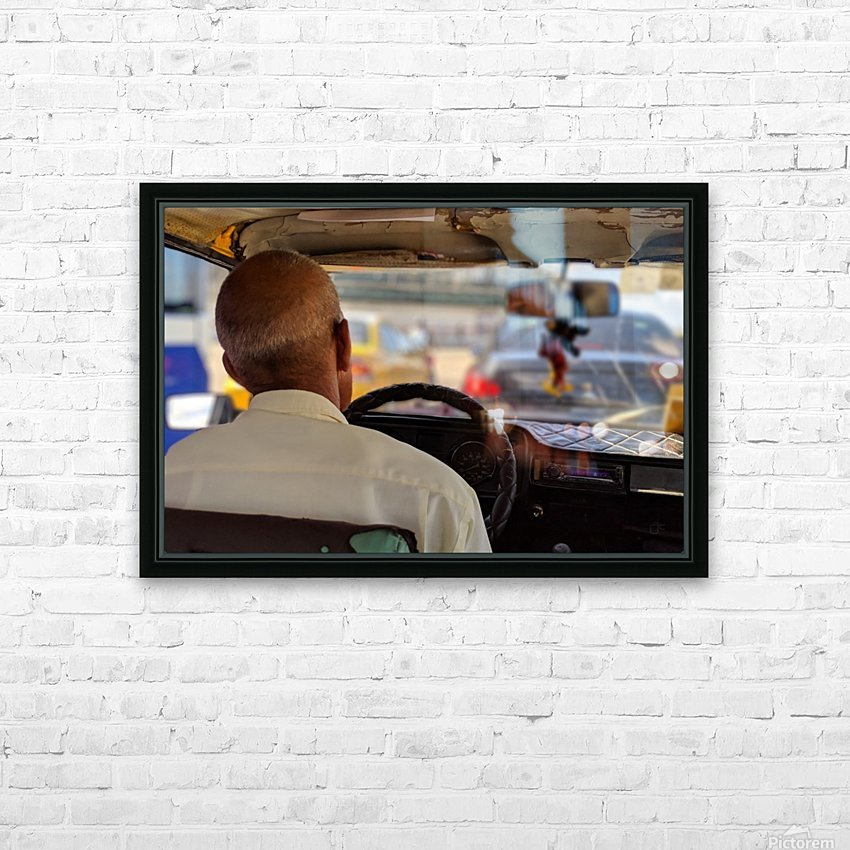 Taxi driver in Cuba HD Sublimation Metal print with Decorating Float Frame (BOX)