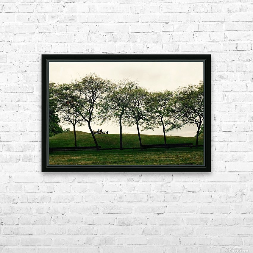 Trees HD Sublimation Metal print with Decorating Float Frame (BOX)