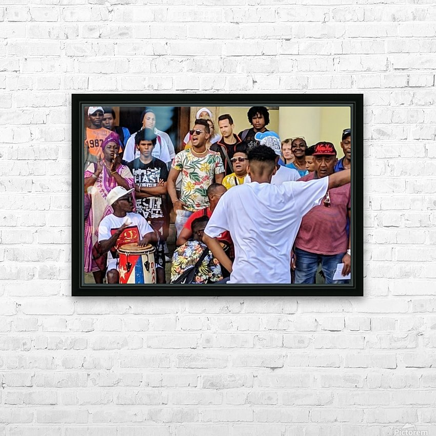 Rumbero Dancer HD Sublimation Metal print with Decorating Float Frame (BOX)
