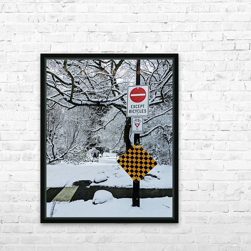 Snowy day HD Sublimation Metal print with Decorating Float Frame (BOX)