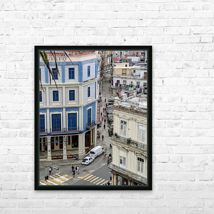 Old Havana HD Sublimation Metal print with Decorating Float Frame (BOX)