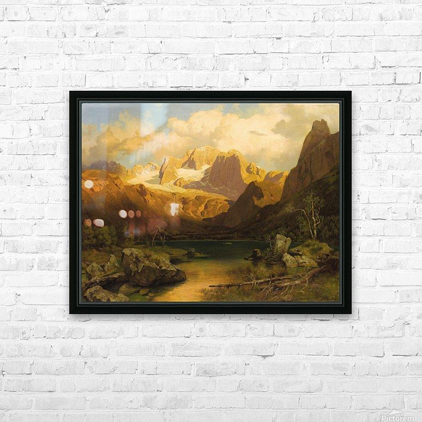 Alpiner Berggipfel HD Sublimation Metal print with Decorating Float Frame (BOX)