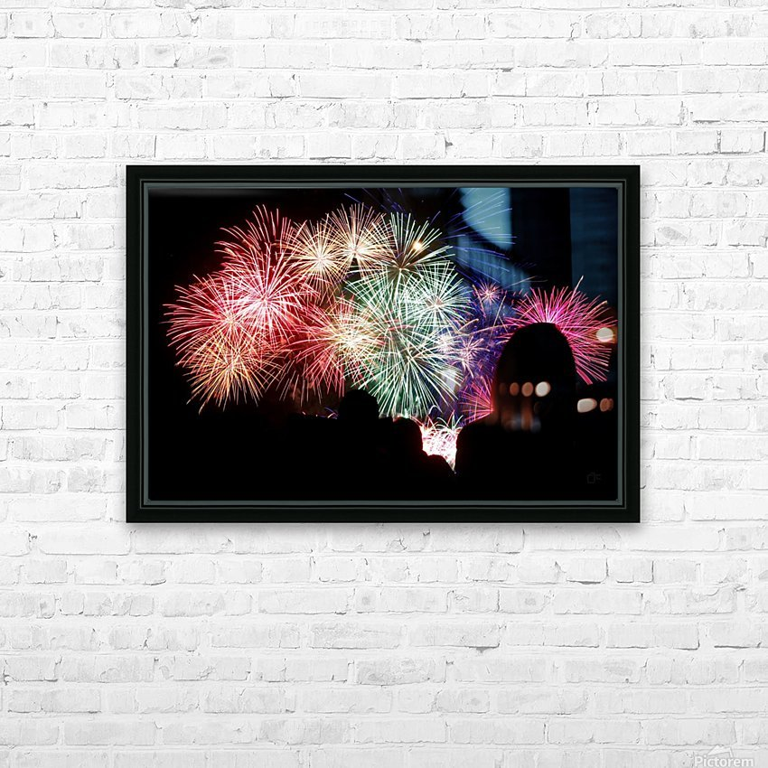 Fireworks HD Sublimation Metal print with Decorating Float Frame (BOX)