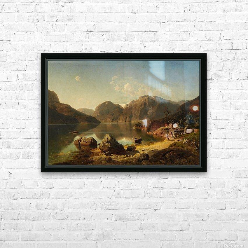 Norwegische Gebirgslandschaft am Morgen HD Sublimation Metal print with Decorating Float Frame (BOX)