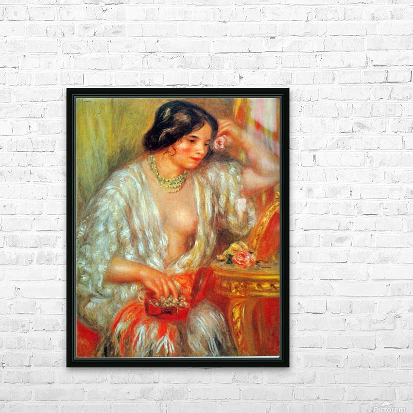 Gabrielle by Renoir HD Sublimation Metal print with Decorating Float Frame (BOX)