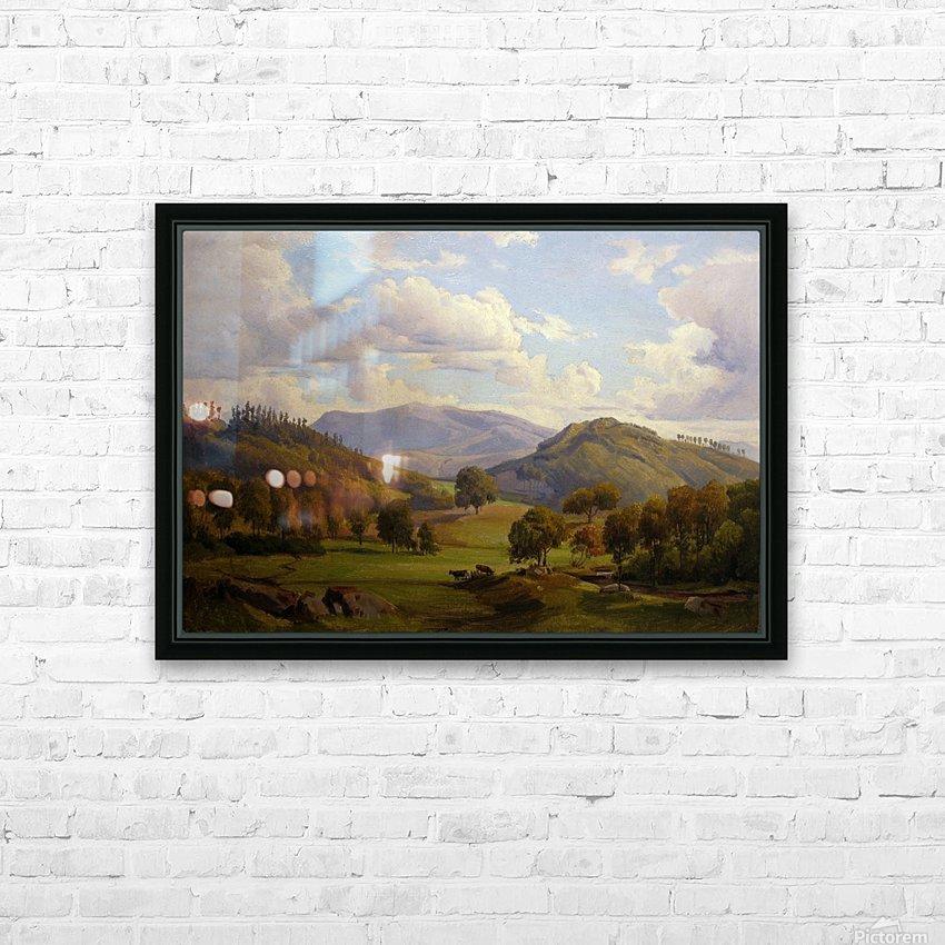Blick auf den Felsberg im Odenwald HD Sublimation Metal print with Decorating Float Frame (BOX)