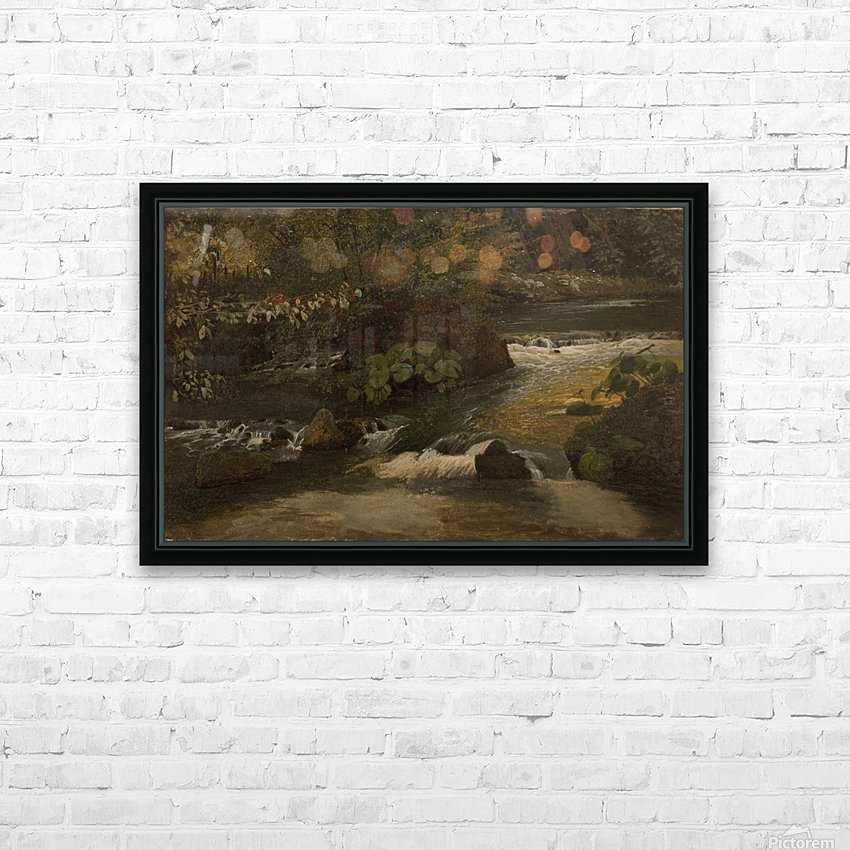 Landscape on a river HD Sublimation Metal print with Decorating Float Frame (BOX)