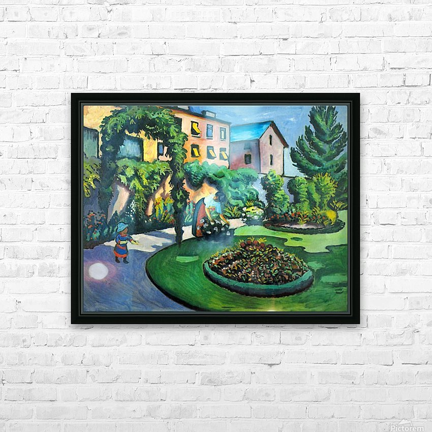 Garden image by Macke HD Sublimation Metal print with Decorating Float Frame (BOX)