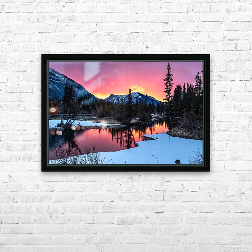 Sunrise At Policemans Creek Alberta HD Sublimation Metal print with Decorating Float Frame (BOX)