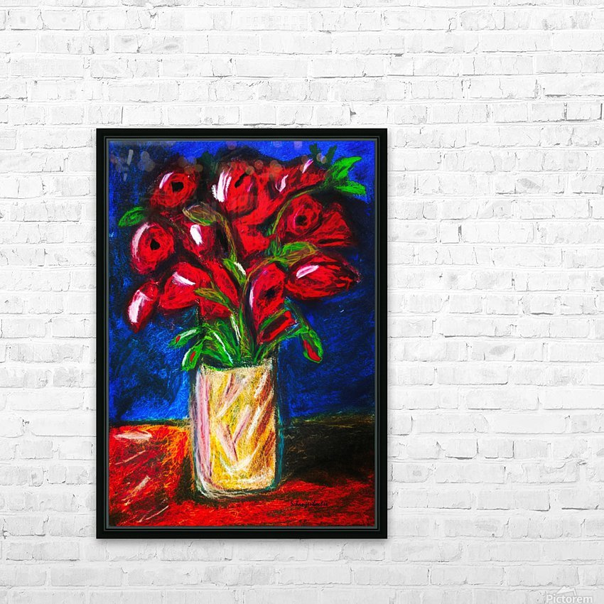 Red Cala Lilies HD Sublimation Metal print with Decorating Float Frame (BOX)