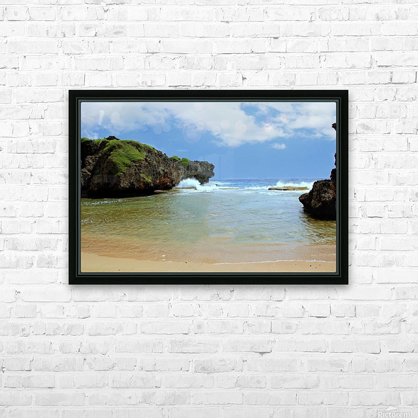 Hidden Beach HD Sublimation Metal print with Decorating Float Frame (BOX)