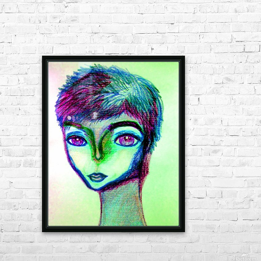 spritecolorsalien7 HD Sublimation Metal print with Decorating Float Frame (BOX)