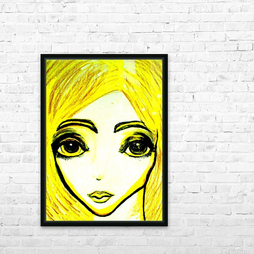 yellowgirl1 HD Sublimation Metal print with Decorating Float Frame (BOX)