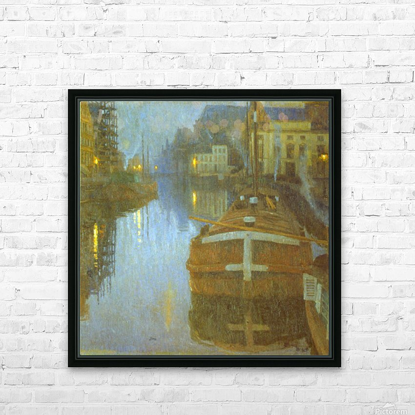 Ghent by Baertsoen HD Sublimation Metal print with Decorating Float Frame (BOX)