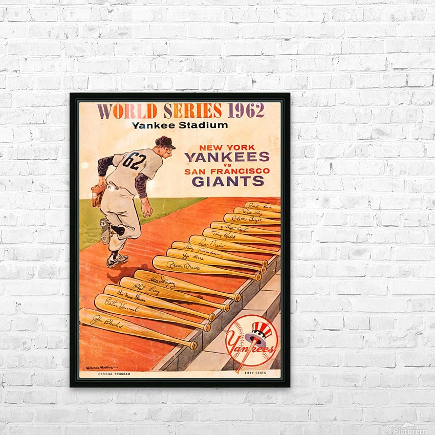 1962 Yankees World Series Program HD Sublimation Metal print with Decorating Float Frame (BOX)