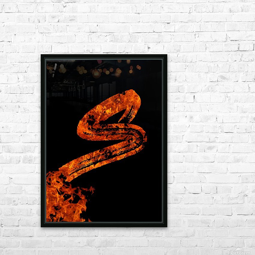 Burning on Fire Letter S HD Sublimation Metal print with Decorating Float Frame (BOX)