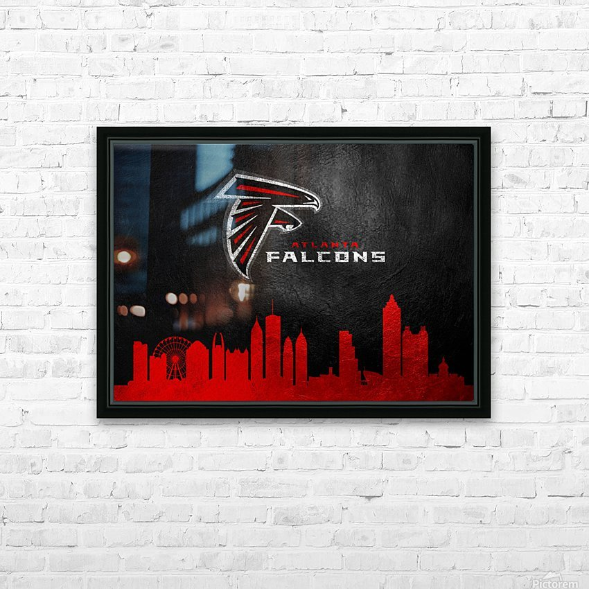 Atlanta Falcons HD Sublimation Metal print with Decorating Float Frame (BOX)